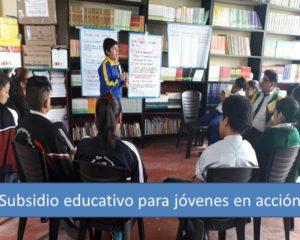 Subsidio educativo para jóvenes en acción